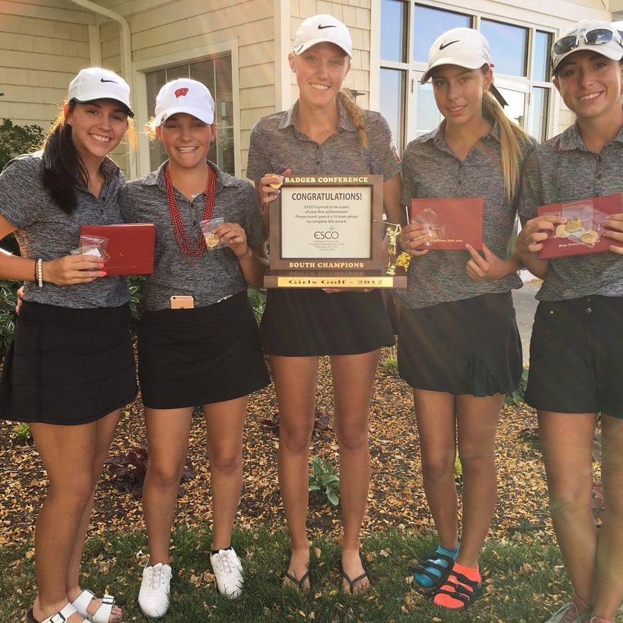 HS Girls Golf: Milton wins third straight Badger South title after senior Mia Seeman, junior Taylor Hakala flip-flop in the end