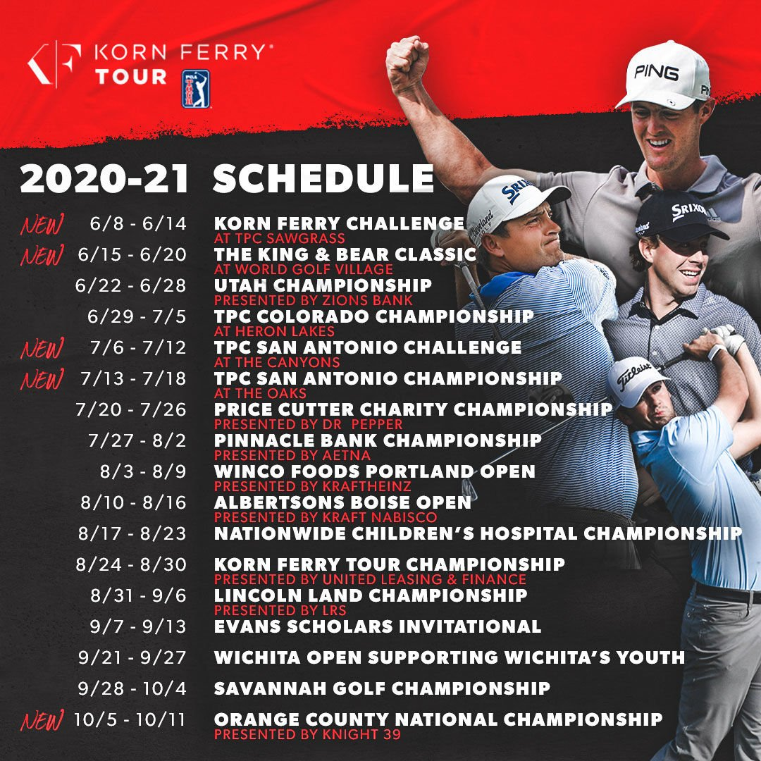2020 Korn Ferry Tour: Revised Schedule