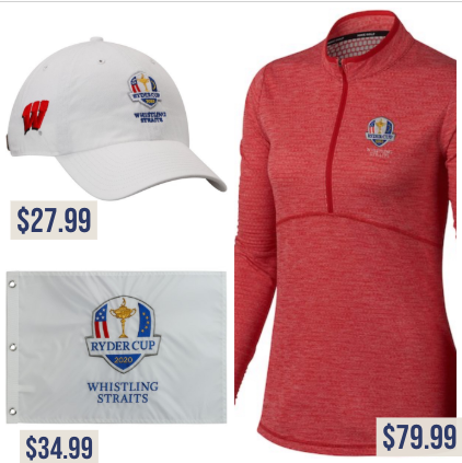 Ryder Cup | Whistling Straits apparel | Price tag