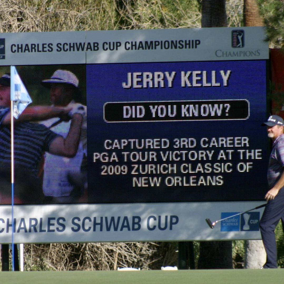 Healthy start to Charles Schwab Cup Championship for Madison's Jerry Kelly as opening 68 leaves him four shots back