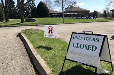 Course closed sign