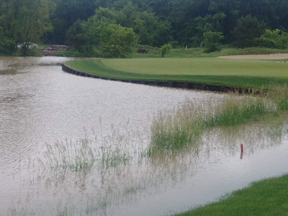 Hawks Landing Golf Course   2018 flooding