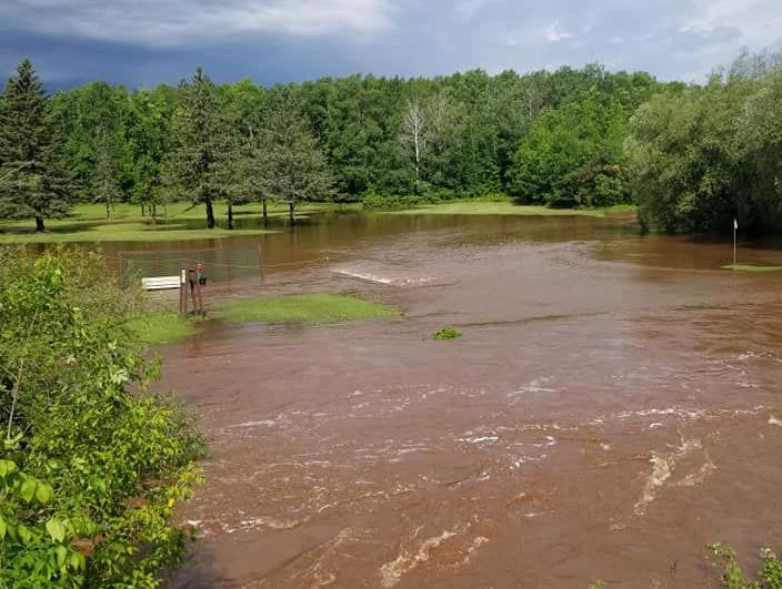 Poplar Golf Course   2018 flooding