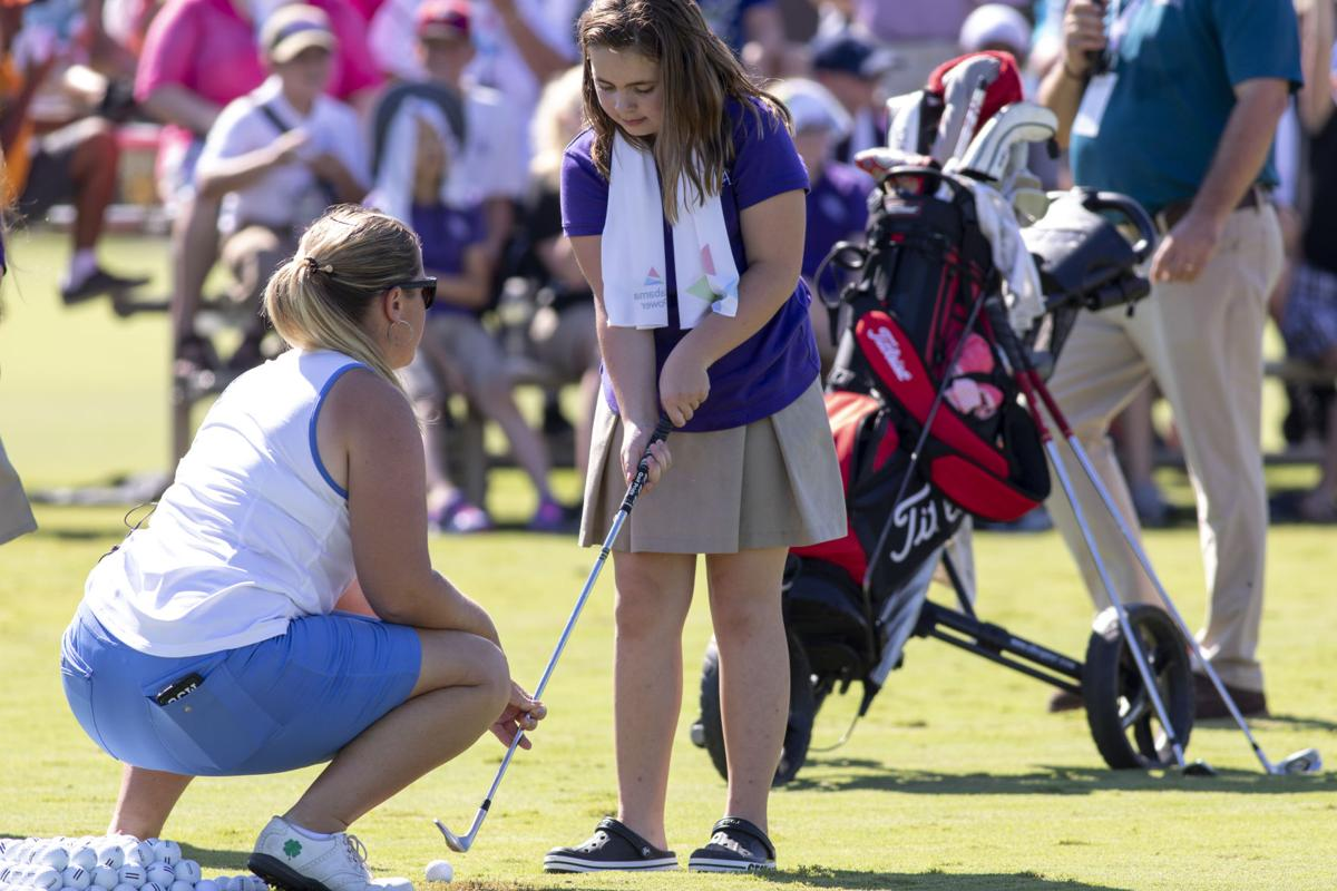 Photos: Edgerton's Allyssa Ferrell, Osceola's Casey Danielson mix, mingle with young fans at Symetra Tour Junior Clinic