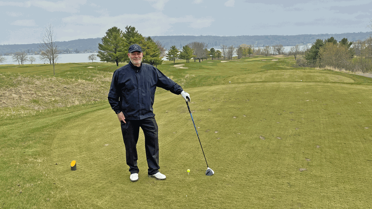 Gary D'Amato on first tee at Geneva National Player Course (copy)