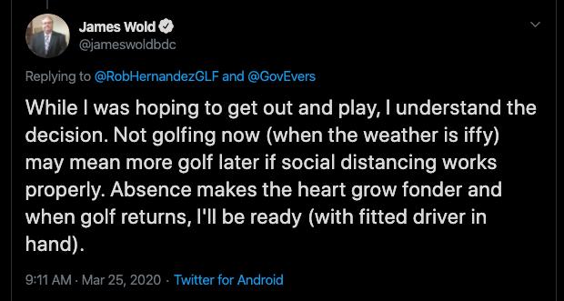 James Wold Tweet