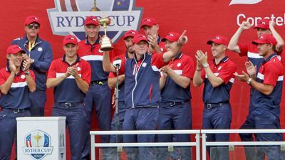 Ryder Cup | Sunday | Trophy celebration