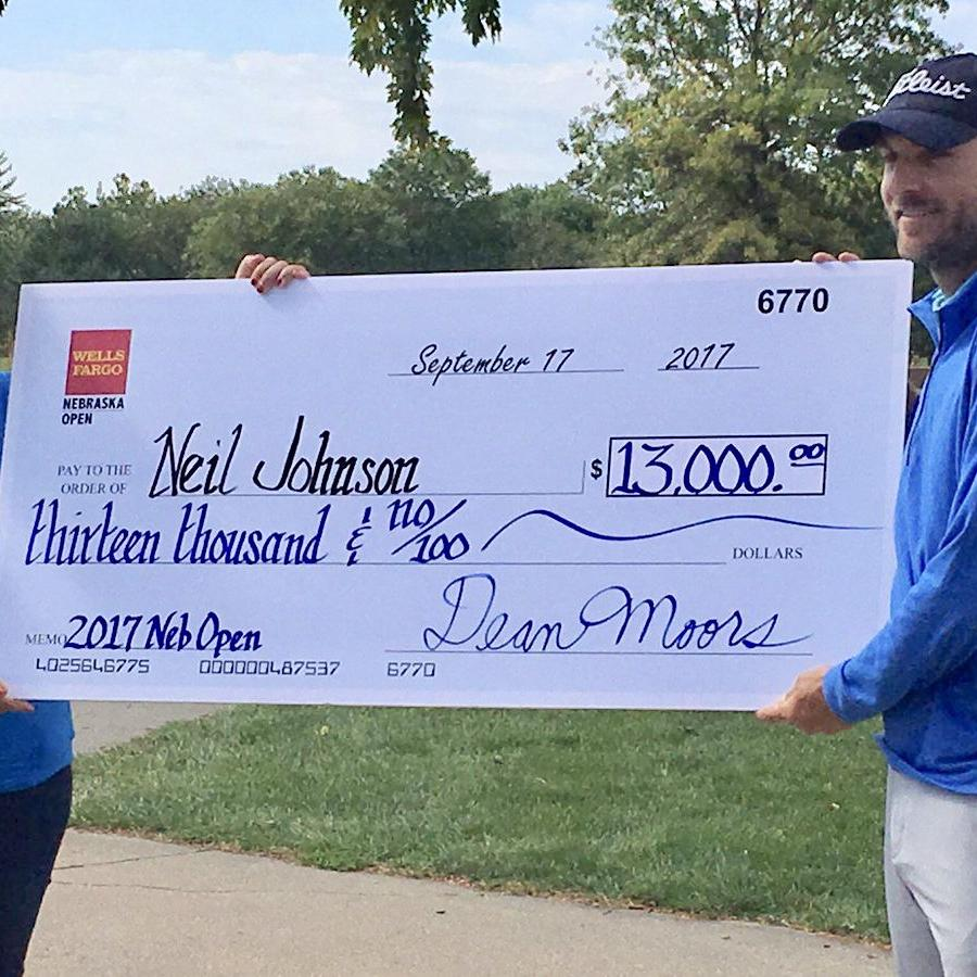 River Falls' Neil Johnson adds to his collection of State Open titles, taking Nebraska with a birdie-birdie finish