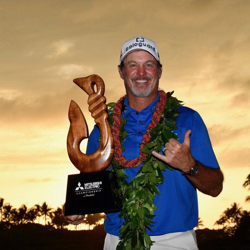 Rocky road to victory as Madison's Jerry Kelly wins crazy PGA Tour Champions opener with a two-shot swing on 54th hole
