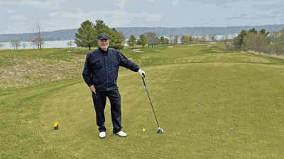 Gary D'Amato on first tee at Geneva National Player Course