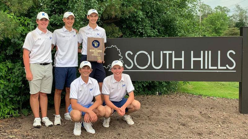 Kohler boys golf team   2021 St. Mary's Springs sectional champions