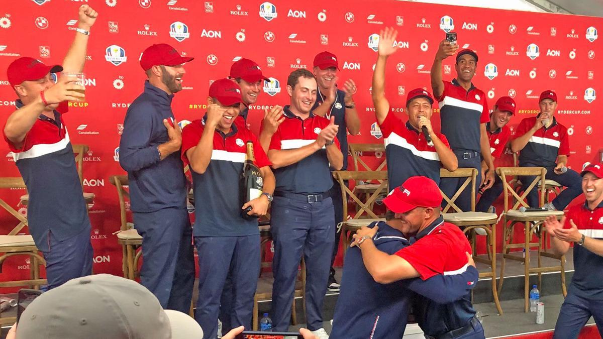 Ryder Cup | Sunday | Bryson DeChambeau, Brooks Koepka hug