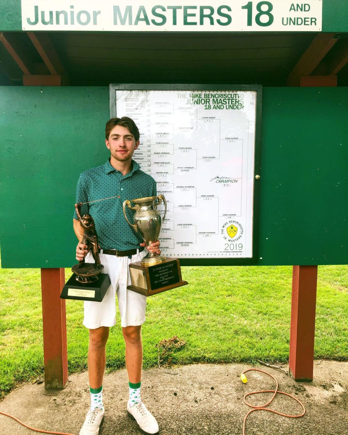 2019 Wisconsin Junior Masters champion James Gilmore