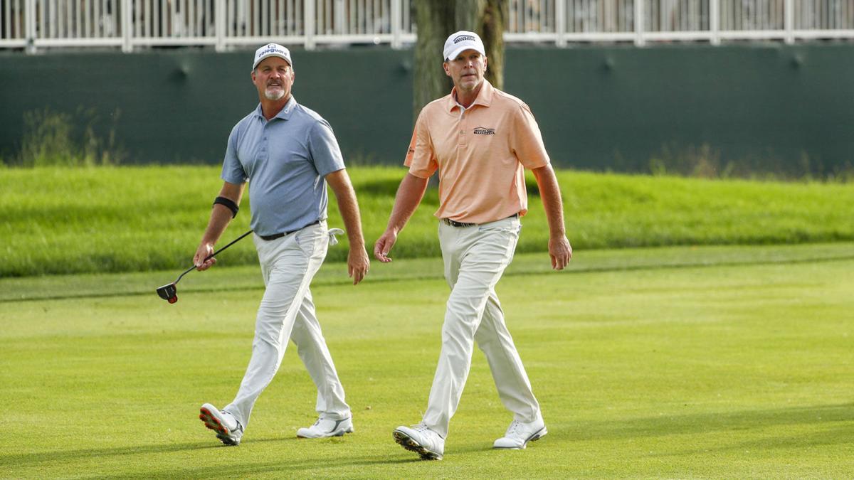 Jerry Kelly, Steve Stricker, 2019 U.S. Senior Open