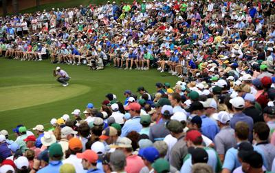 2019 Masters Tournament   Patrons watch Tiger Woods