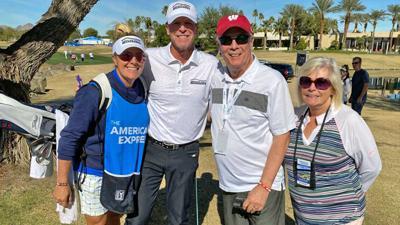 Steve, Nicki Stricker with Bo, Kelly Ryan