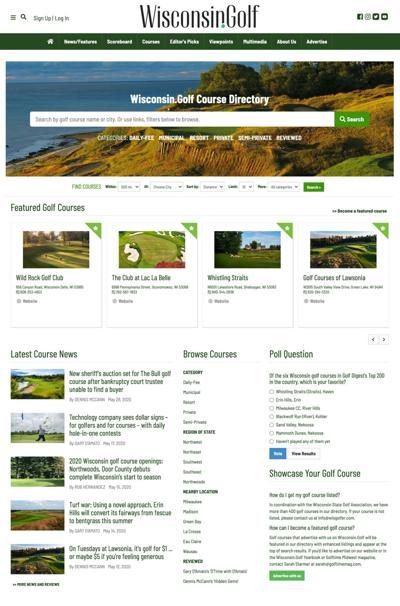 Course directory home page
