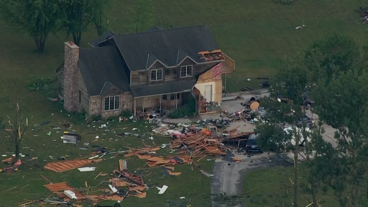 Storm damage still