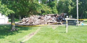 UPDATE: Police locate driver accused of plowing into town of Beloit home, setting it ablaze