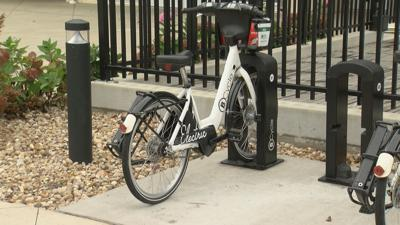 BCycle station at Pinney Library in Madison