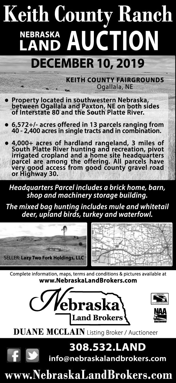 KEITH COUNTY RANCH • NEBRASKA LAND AUCTION