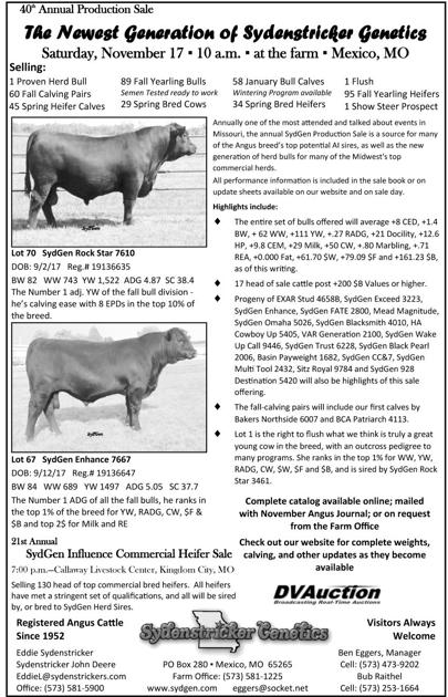 Sydenstricker Genetics 40th Annual Production Sale | Sale