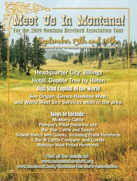 Montana Hereford Tour | Sale Calendar | wlj net