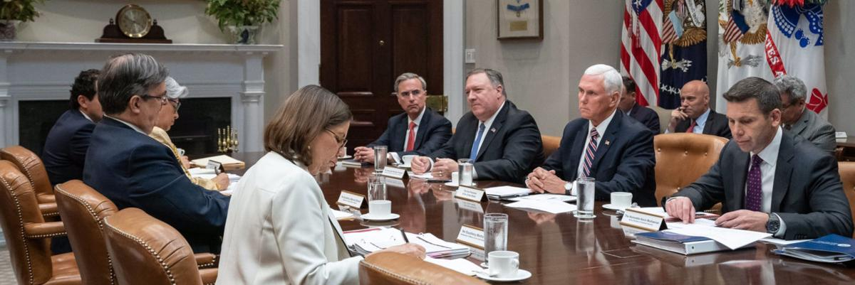 Pence, Pompeo meet with Mexican negotiators