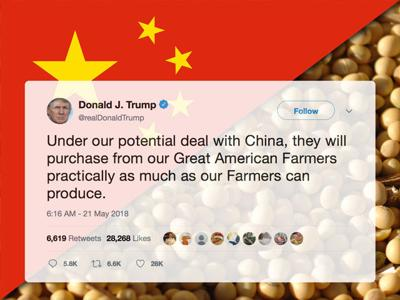 """Trump: China will buy """"practically as much as our farmers can produce"""""""