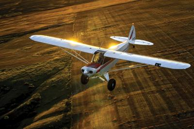 Airplane is an important piece of ranch equipment