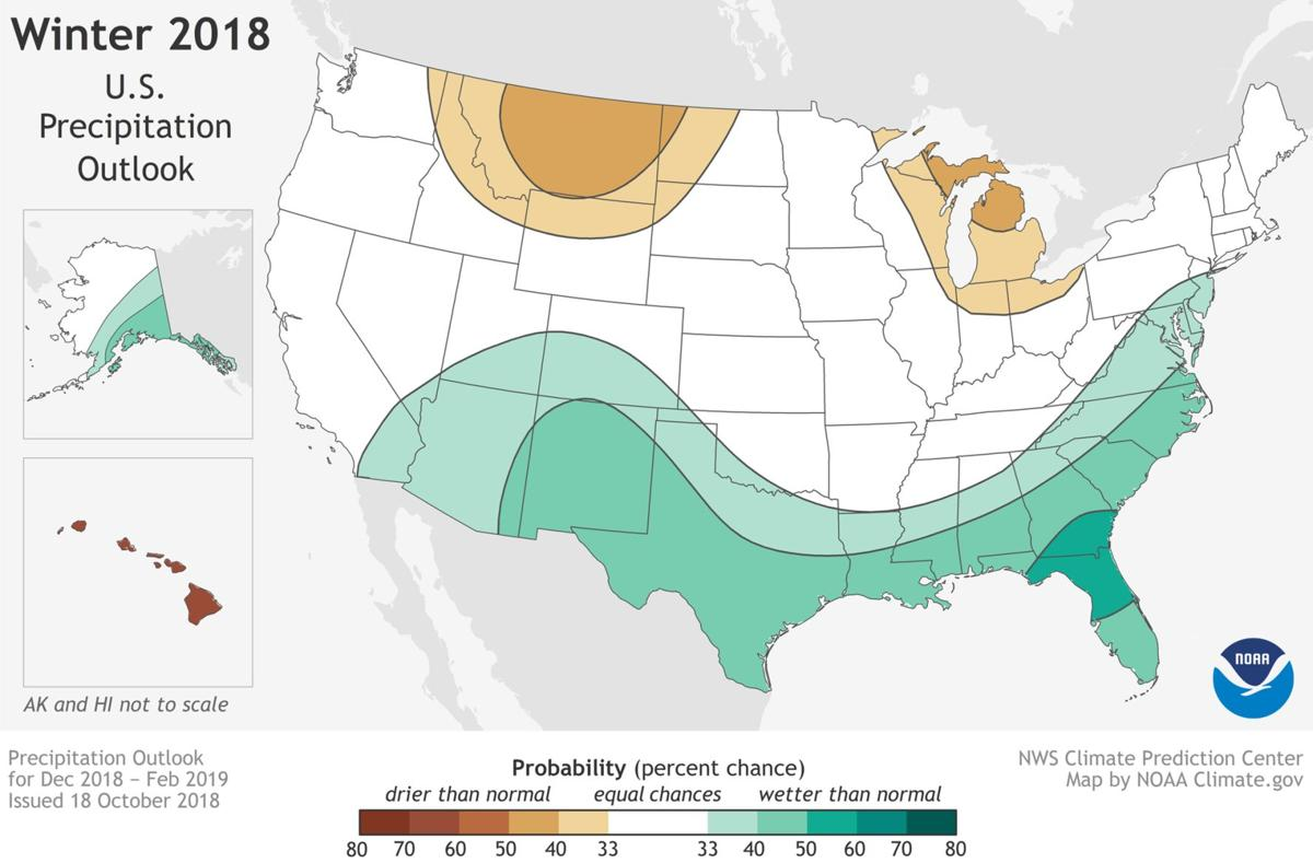 Mild weather predicted for much of U.S. - weather precipitation