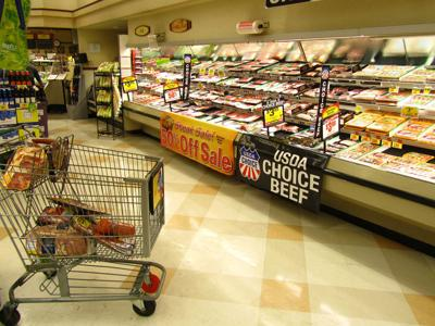 Meat at grocery store