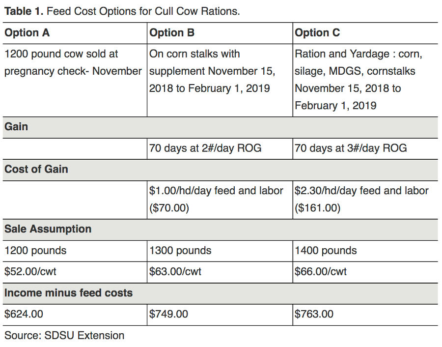 Resources and considerations when marketing cull cows - Table 1