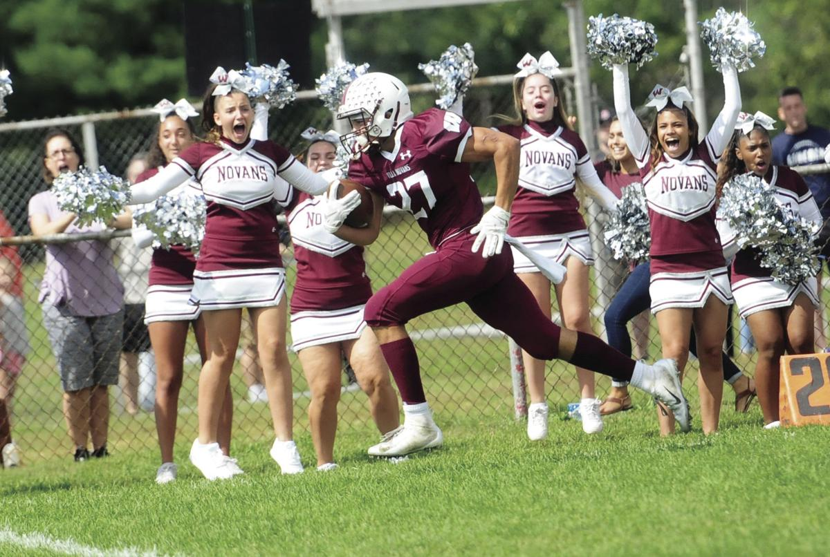TOTALLY DEDICATED: After the unexpected death of his mother, Woonsocket football standout Emmanuel Gomes has found comfort on the field and with his Villa Novan football family