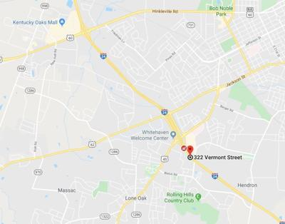 I-24 eastbound blocked map