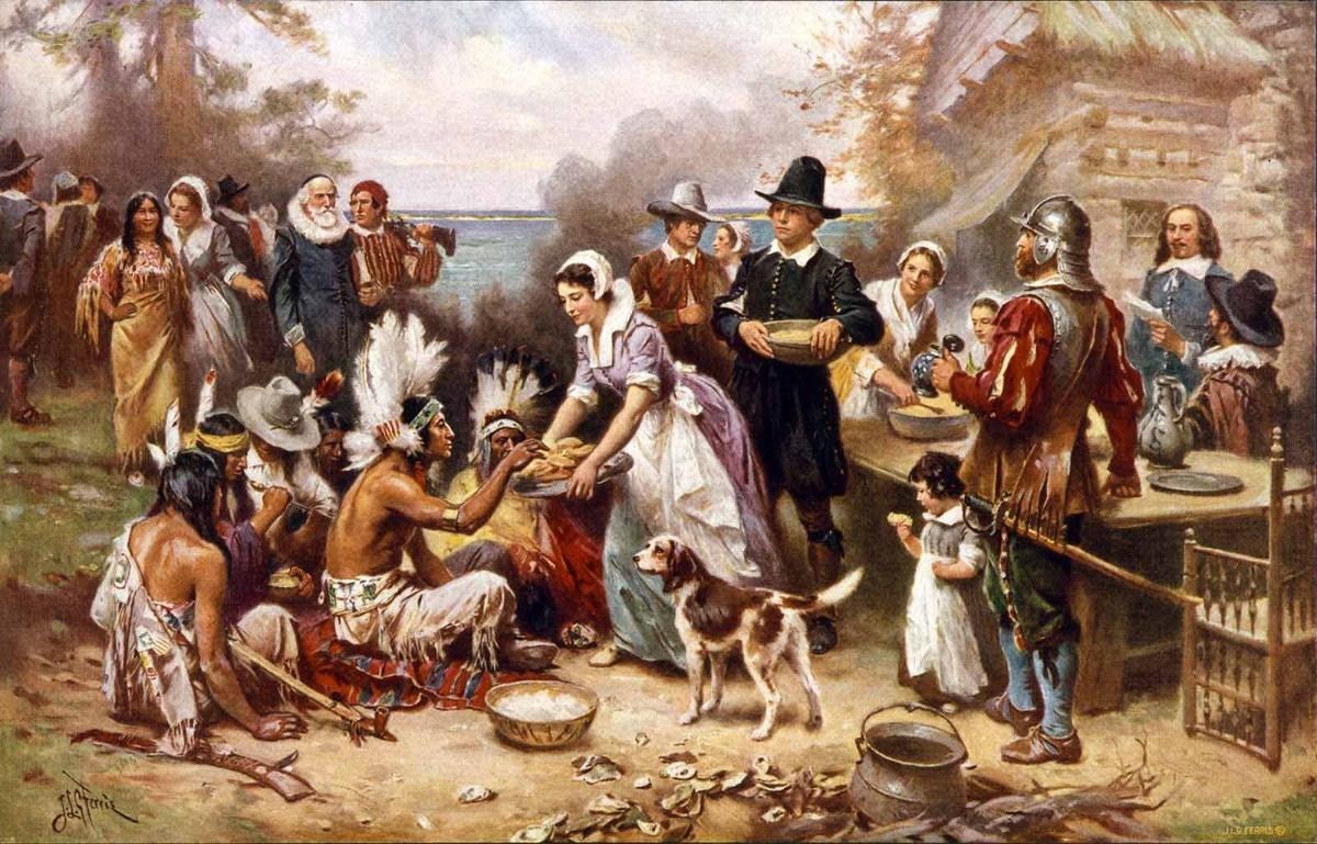 The first Thanksgiving 1621 by J.L.G. Ferris