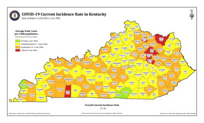KY COVID incidence 4/30/21