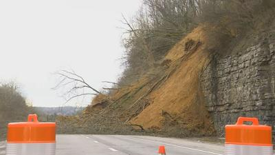 Temporary lanes around I-24 landslide open to traffic | News