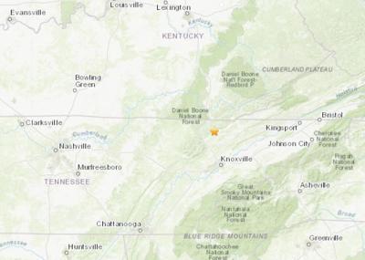 TN KY earthquake
