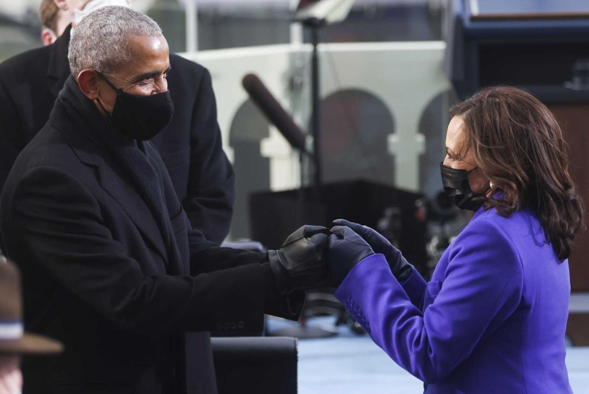 Obama and Harris **This image is for use with this specific article only**