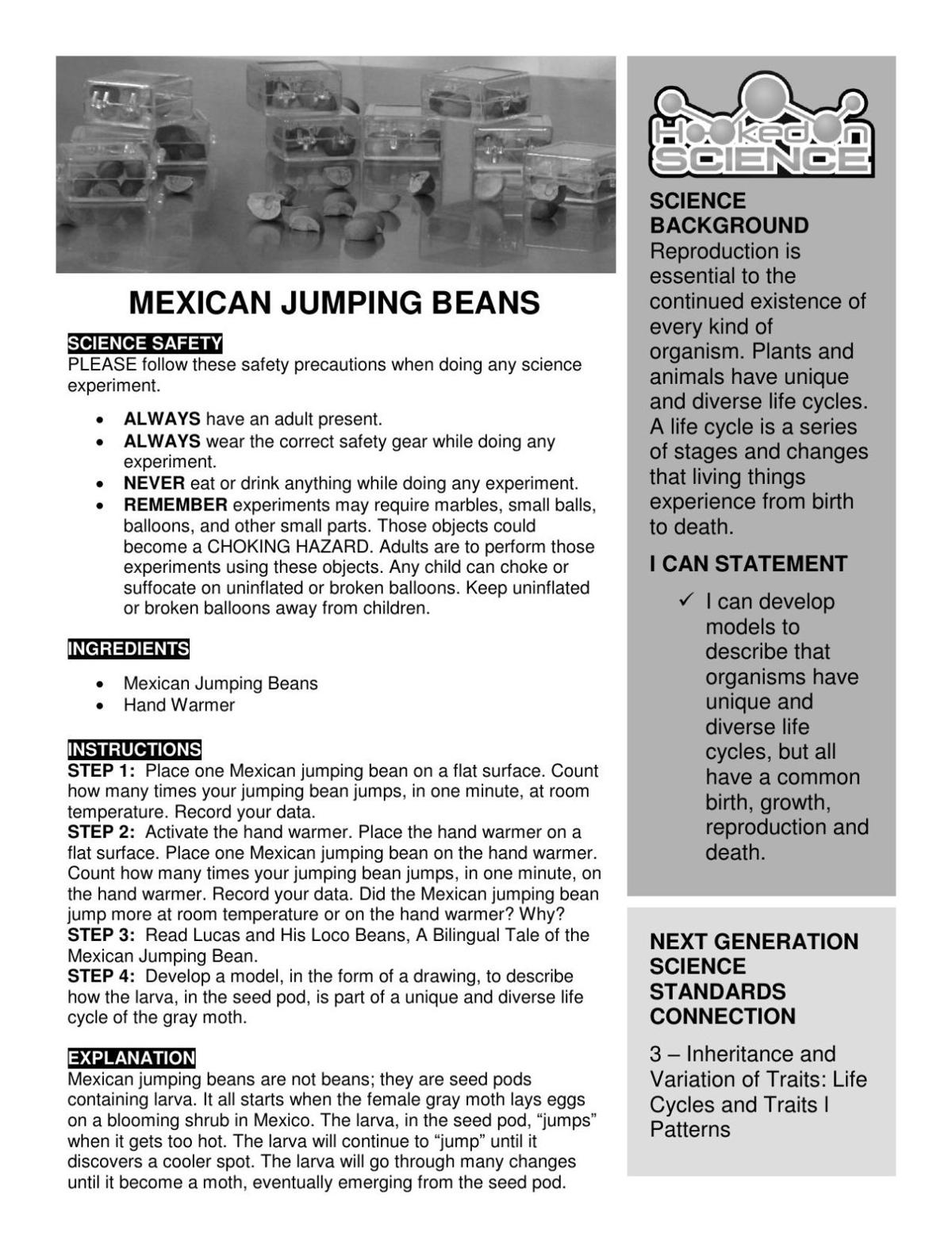 Hooked on Science: Mexican jumping beans