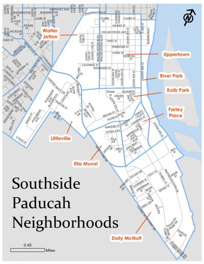 Paducah Southside neighborhoods map