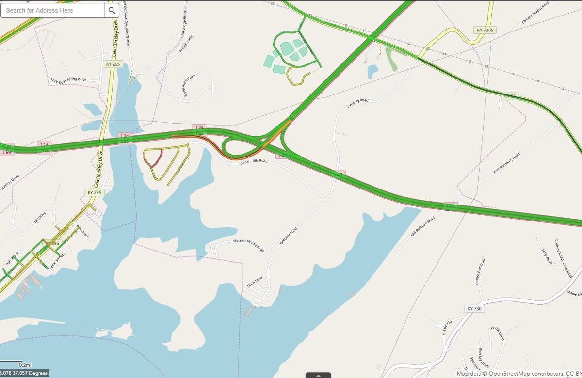 Semi crash blocks I-24 East ramp to I-69 North at exit in