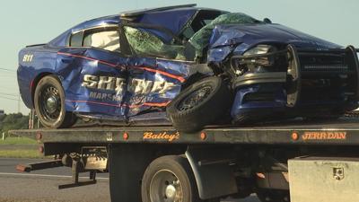 Marshall County Sheriff's Department deputy crash 6/16/21