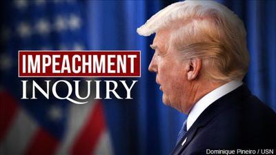 Impeachment inquiry trump graphic