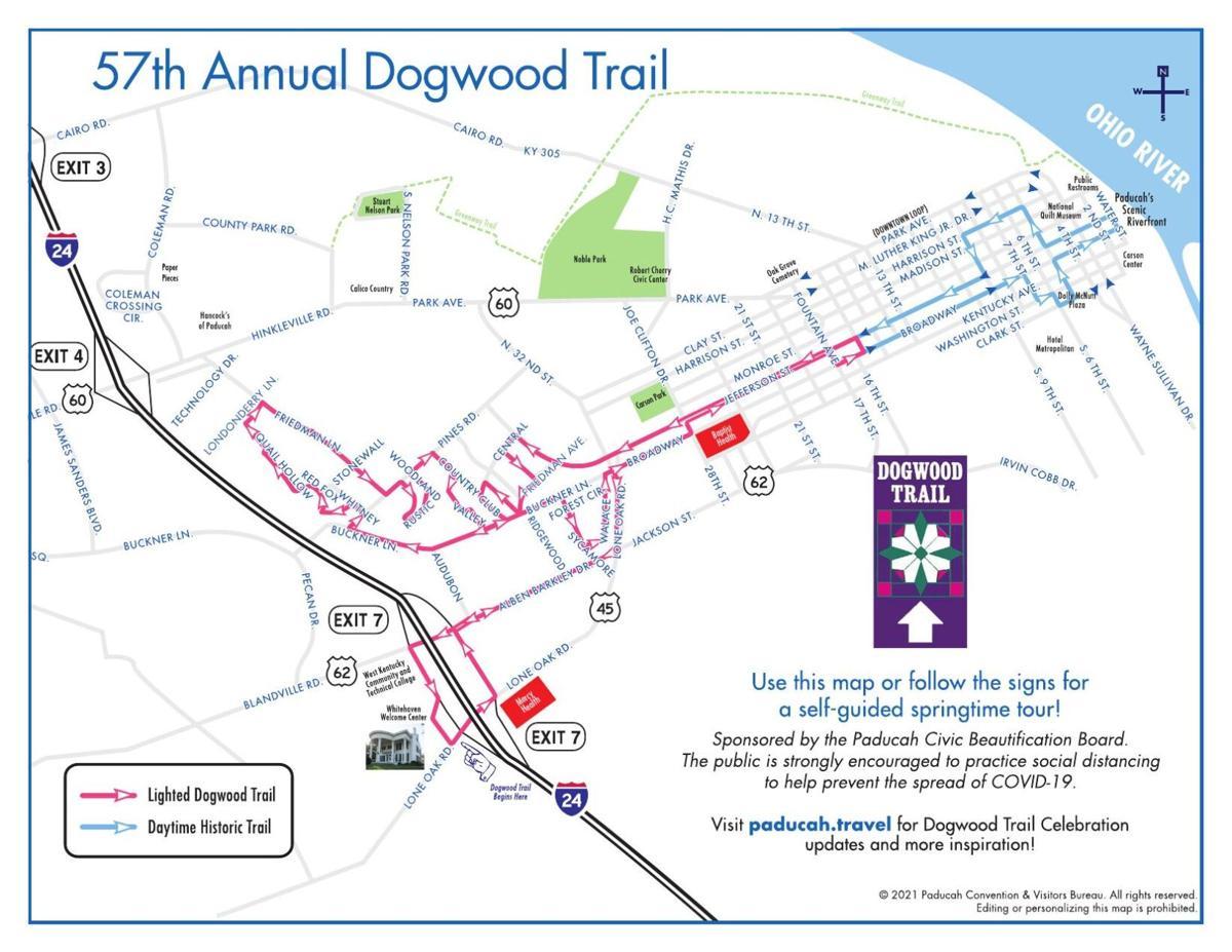 57th annual Dogwood Trail map