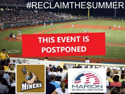 event postponed miners baseball va vaccination