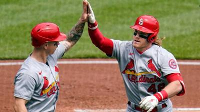Martinez goes 8, Bader 3-run HR as Cards sweep Pirates 3-0