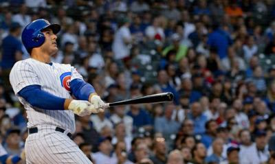 Rizzo homers twice as Cubs beat Giants 5-3