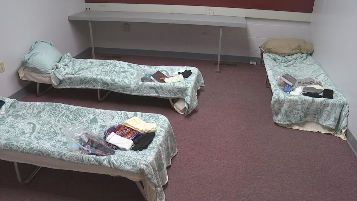 Carbondale warming center cots